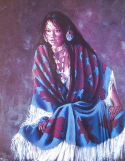 Blue Shawl 1991 Limited Edition Print - Penni Anne Cross