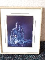 Blue Beaded Hair Ties AP 1983 Limited Edition Print by Penni Anne Cross - 1