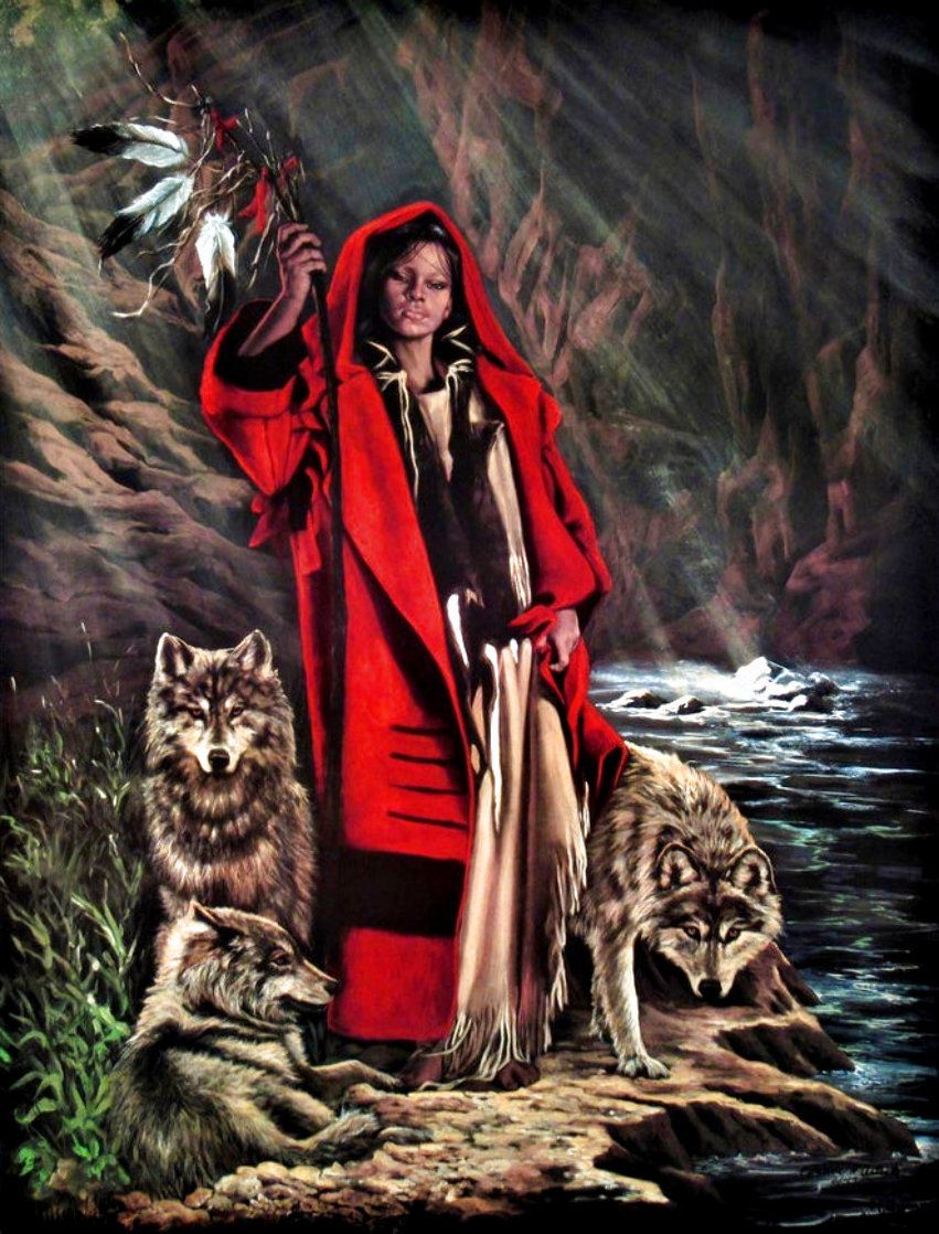 Red Ridinghood and Her Wolves Limited Edition Print by Penni Anne Cross