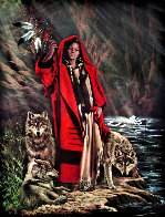 Red Ridinghood and Her Wolves Limited Edition Print by Penni Anne Cross - 0