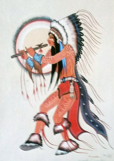 Flute Dancer Limited Edition Print by Woody Crumbo