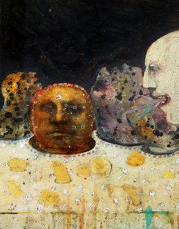 Headscape 2001 27x20 Original Painting - Walter Crump