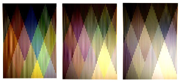 Couleur Additive Perseus: Suite of 3 2017 Limited Edition Print - Carlos Cruz-Diez