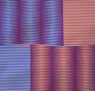 Induction Chromatique (Red/Blue) 1979 Limited Edition Print by Carlos Cruz-Diez