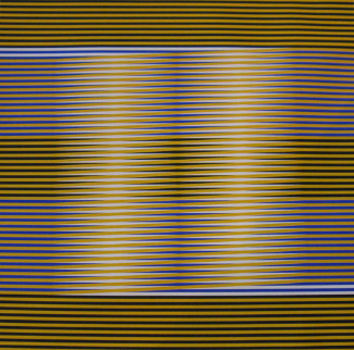 Induction Chromatique (Yellow/Black) 1974 Limited Edition Print - Carlos Cruz-Diez