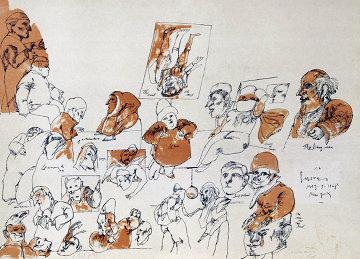 Denizens of the Underworld 1968 Limited Edition Print by Jose Luis Cuevas