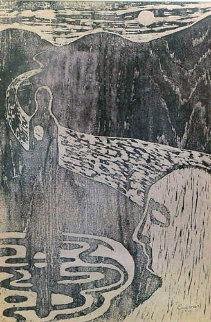 Untitled Unique 1956 Limited Edition Print by Jose Luis Cuevas