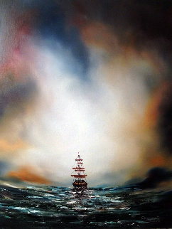 Morning Sail 23x19 Original Painting - Dan Cumpata