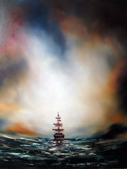 Morning Sail 23x19 by Dan Cumpata