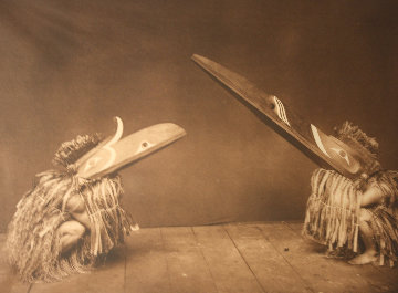 Kotsuis And Hohhuq - Nakoaktok   and Kaloqutsuis - Qagyuhl 1914 Limited Edition Print - Edward S. Curtis