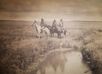 Three Chiefs Piegan 1900 Photography - Edward S. Curtis
