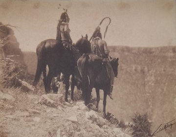 Crow Indian, Look Out 1905 Photography - Edward S. Curtis