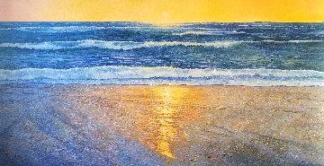 Pacifica Beach 51x96 Huge  Original Painting - Alan Curtis