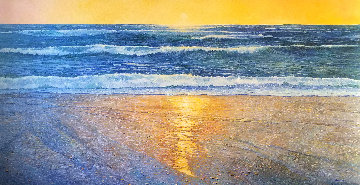 Pacifica Beach 51x96 Super Huge  Original Painting - Alan Curtis