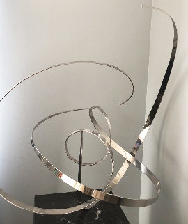 Untitled Stainless Steel  Kinetic  Sculpture 1977 29 in Sculpture by Michael Cutler