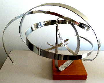 Euphoria  Steel Kinetic Sculpture 1977 27 in Sculpture - Michael Cutler