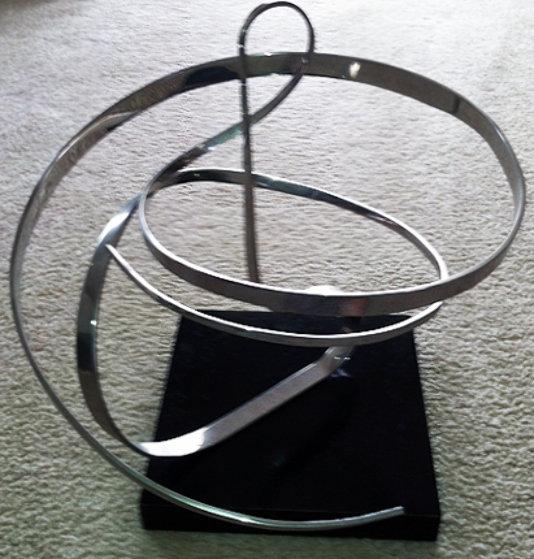 Kinetic Chrome Sculpture Sculpture by Michael Cutler