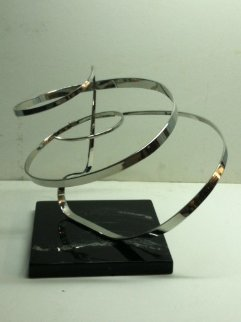 Chrome Kinetic Sculpture 1983 18 in Sculpture - Michael Cutler