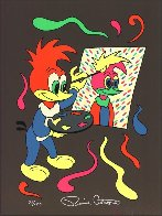 Putting Your Face On (Woody Woodpecker)  1989 Limited Edition Print by Ronnie Cutrone - 0
