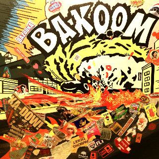 Bakoom 2004 36x36 Original Painting - Ronnie Cutrone