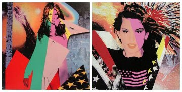 Set of 2: 'Supermodels: Elle McPherson' and 'Supermodels: Cindy Crawford' PP 1996 Limited Edition Print by Ronnie Cutrone