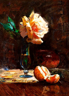 Summer Rose 20x16 Original Painting - Cyrus Afsary
