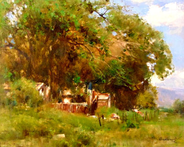 Grandpa's Barn 24x28 Original Painting - Cyrus Afsary