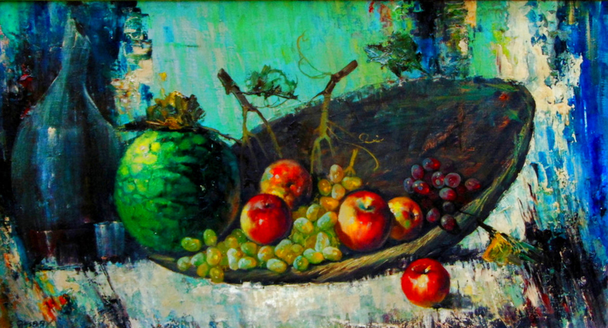 Untitled Still Life 26x44 Huge Original Painting by Cyrus Afsary