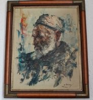Portrait of an Islamic Man 1975 19x15 Original Painting by Cyrus Afsary - 1