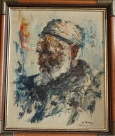 Portrait of an Islamic Man 1975 19x15 Original Painting by Cyrus Afsary - 2