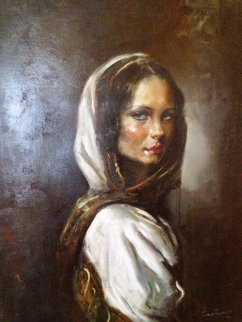 Gypsy Girl Original Painting - Cyrus Afsary