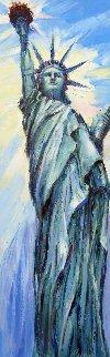 Proud of Liberty 36x12 Original Painting by Roman Czerwinski