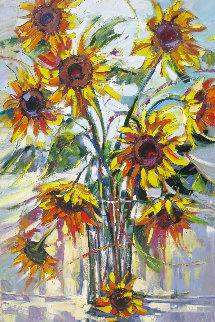 Sunflowers in Light 2011 Limited Edition Print by Roman Czerwinski