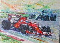 Formula 1 Race 2015 36x48 Super Huge Original Painting by Roman Czerwinski - 1