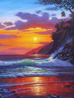 Evening Splendor 2008 43x37 Super Huge Original Painting - Roman Czerwinski