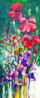 Garden Awakening 2016 36x12 Original Painting - Roman Czerwinski