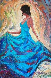 Dancer 2020 60x40 Super Huge Original Painting - Roman Czerwinski