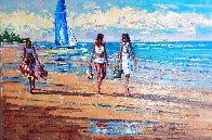 Beach Walk 2016 20x30 Original Painting by Roman Czerwinski - 0