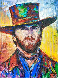 Clint Eastwood 2016 40x30 Super Huge Original Painting - Roman Czerwinski