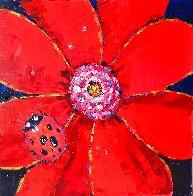 Ladybug Original 2005 24x24 Original Painting by Roman Czerwinski - 0