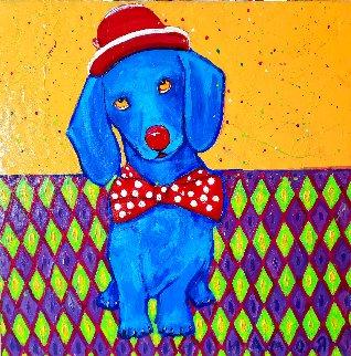 Party Girl Original 2005 24x24 Original Painting - Roman Czerwinski