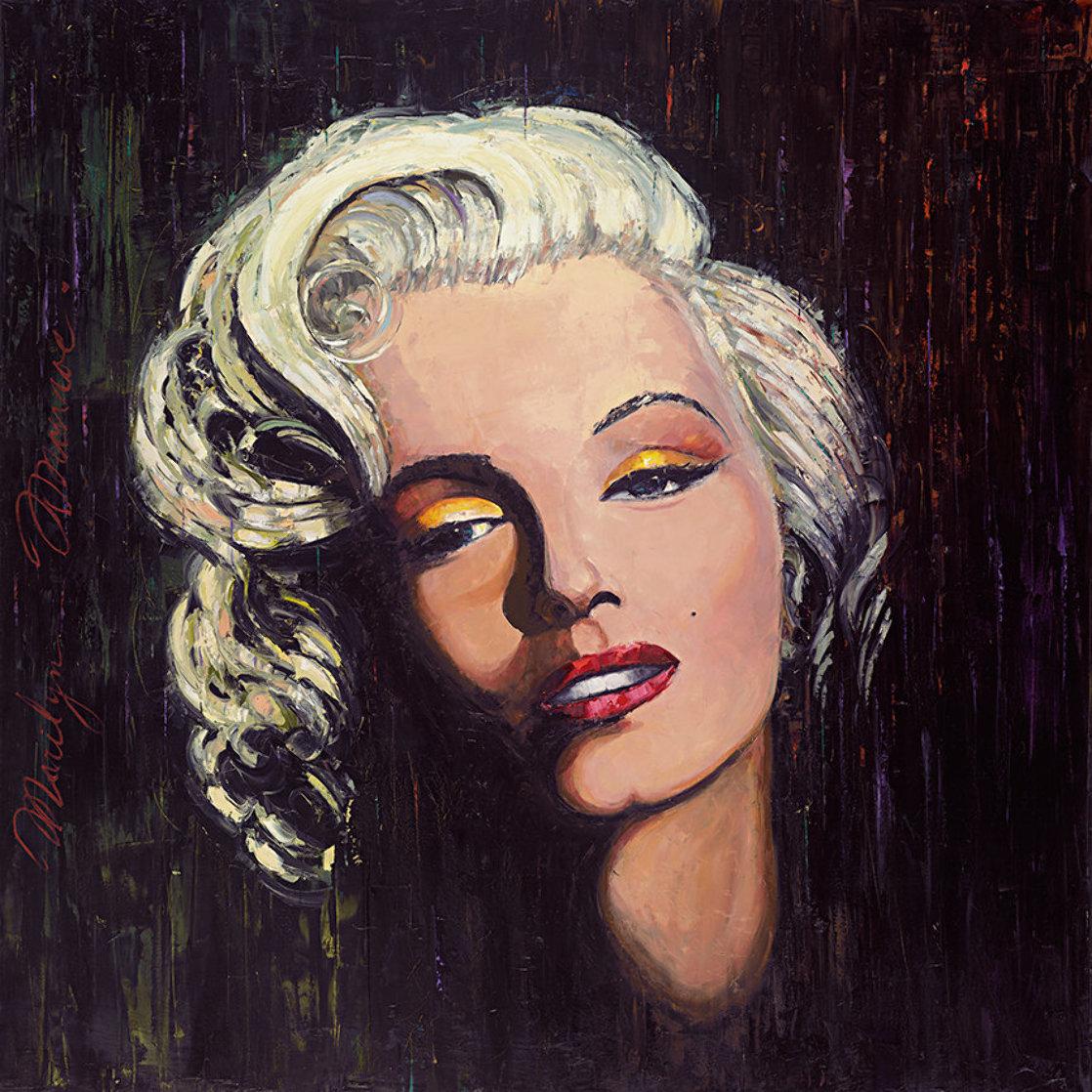 Marilyn - Golden Star 2014 48x48 Original Painting by Roman Czerwinski