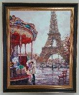 Amour E Paris 2014 62x50 Super Huge Original Painting by Roman Czerwinski - 1
