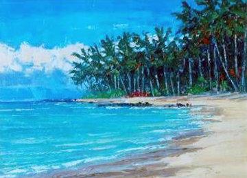 Beach Kanaha, Maui 29x24 Original Painting - Roman Czerwinski