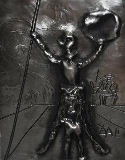 Don Quixote Dali  Platinum   Sculpture 27 in Sculpture - Salvador Dali