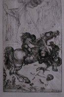 St. George and the Dragon 1947 (Very Early) Limited Edition Print by Salvador Dali - 2