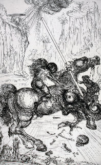 St. George and the Dragon 1947 (Very Early) Limited Edition Print - Salvador Dali