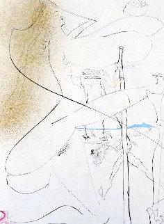 La Venus Aux Fourrures Woman With Crutch 1988 Limited Edition Print - Salvador Dali