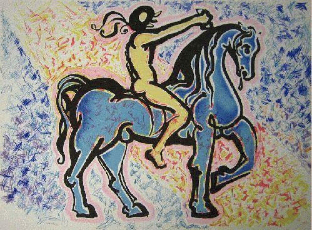 Le Cavalier, (Victory of Primitive Man) 1974 Limited Edition Print by Salvador Dali