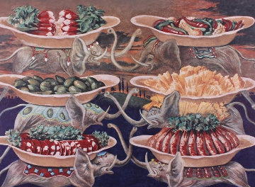 Diners De Gala - Les Delices Petit Martyrs 1977 Limited Edition Print - Salvador Dali